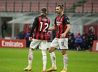 Milano 07-02-2021<br /> Stadio Giuseppe Meazza<br /> Serie A  Tim 2020/21<br /> Milan - Crotone nella foto:Ante Rebic esultanza                                                          <br /> Antonio Saia Kines Milano