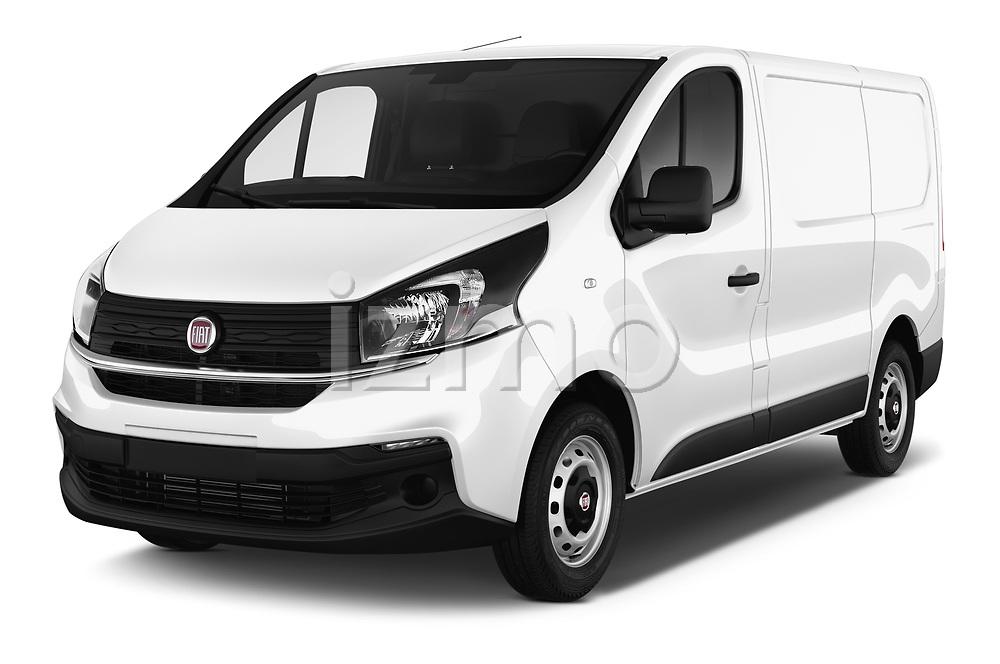 2017 Fiat Talento Pack 4 Door Cargo Van Angular Front stock photos of front three quarter view