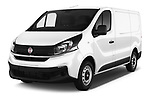 2017 Fiat Talento Pack 4 Door Cargo Van Angular Front stock photos of front three quarter view