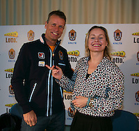 21-01-14,Netherlands, Almere,  Centerpoint, Press-conference Daviscup, Minke Booij announces new deal with KNLTB, Left Daviscup captain Jan Siemerink<br />