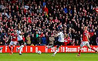 Derby County's midfielder Bradley Johnson (15) shot is blocked during the Sky Bet Championship match between Nottingham Forest and Derby County at the City Ground, Nottingham, England on 10 March 2018. Photo by Stephen Buckley / PRiME Media Images.