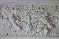 Detail of the plasterwork by Alexander White, added to the King's Room in 1633