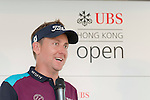 Ian Poulter of England answers questions in UBS pavilion during Hong Kong Open golf tournament at the Fanling golf course on 23 October 2015 in Hong Kong, China. Photo by Moses Ng / Power Sport Images