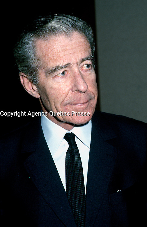 FILE PHOTO - Jean-Jacques Cervan-Schreiber, Dec. 11, 1985.<br /> <br /> Photo : Pierre Roussel - Agence Quebec Presse