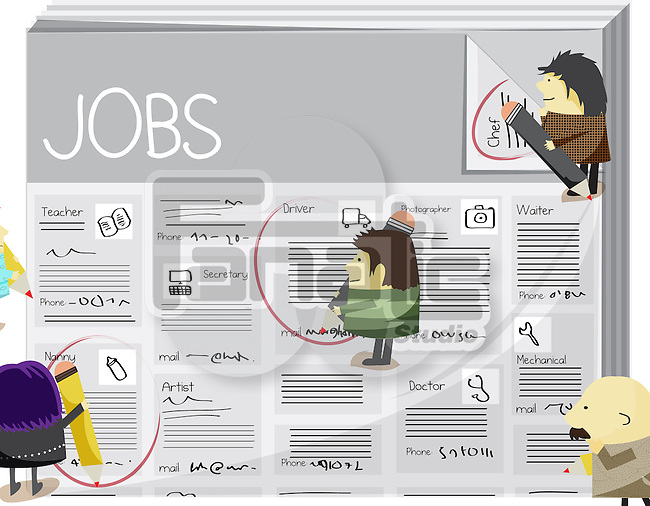 Searching jobs in classified ad