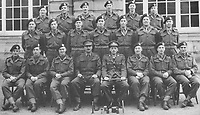 BNPS.co.uk (01202) 558833<br /> Pic: TankMuseum/BNPS<br /> <br /> Bill Bellamy is second left in the front row<br /> <br /> <br /> A delicate china doll that served as the lucky mascot for a British tank crew and miraculously survived the war in one piece has been unearthed by a museum. <br /> <br /> The small doll, called Little Audrey, had been given to Lionel 'Bill' Bellamy by his then girlfriend Audrey before he set out for Normandy in 1944. with the Royal Armoured Corps.<br /> <br /> She was adopted by the troop and was attached to Bellamy's Cromwell tank's searchlight to the right of the turret and she became a good luck charm – and they needed her.<br /> <br /> Little Audrey remained with the men as they fought through France, Belgium, Holland and Germany. She is now going on display at the Tank Museum at Bovington, Dorset.