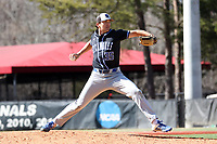 ELON, NC - MARCH 1: Jake Ridgway #35 of Indiana State University throws a pitch during a game between Indiana State and Elon at Walter C. Latham Park on March 1, 2020 in Elon, North Carolina.