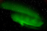 The Aurora Borealis or Norther Lights. Shores of Hudson Bay, Manitoba, Canada (late Sept.).