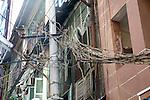 Tangle Of Street Wires Near Gyee Zai Market