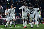Real Madrid's Cristiano Ronaldo Nacho Fernandez Garet Bale Isco Alarcon Marcelo Vieira  during the match of La Liga between Atletico de Madrid and Real Madrid at Vicente Calderon Stadium  in Madrid , Spain. November 19, 2016. (ALTERPHOTOS/Rodrigo Jimenez)