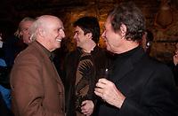 Gilles Vigneault (L)  Jean Pierre Ferland (R) <br /> , 2001 file photo<br /> Lancement d'album - Album Launch<br /> <br /> photo : Roussel - AQP