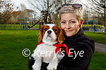 Gabrielle Baricova taking her dog Milo for a walk in the Tralee town park on Thursday.