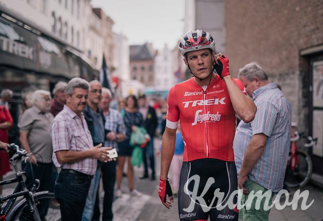 Jasper Stuyven (BEL/Trek-Segafredo) pre-race as he is about to race in his hometown of Leuven (BEL)<br /> <br /> 52nd GP Jef Scherens - Rondom Leuven 2018 (1.HC)<br /> 1 Day Race: Leuven to Leuven (186km/BEL)