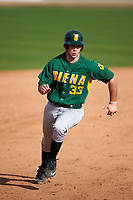 Siena Saints first baseman Nick Duarte (33) during a game against the UCF Knights on February 21, 2016 at Jay Bergman Field in Orlando, Florida.  UCF defeated Siena 11-2.  (Mike Janes/Four Seam Images)