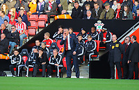 Saturday 10 November 2012<br /> Pictured: Nigel Adkins, manager for Southampton shouts instructions to his players from the touchline<br /> Re: Barclay's Premier League, Southampton FC v Swansea City FC at St Mary's Stadium, Southampton, UK.