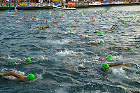 pre race activity, age groupers prepare for start, 2007 Ford Ironman Triathlon World Championship,, Kailua Kona, Big Island, Hawaii, USA, Pacific Ocean