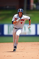 Brevard County Manatees first baseman Dustin DeMuth (4) during a game against the St. Lucie Mets on April 17, 2016 at Tradition Field in Port St. Lucie, Florida.  Brevard County defeated St. Lucie 13-0.  (Mike Janes/Four Seam Images)