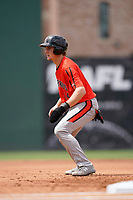 Third baseman Gunnar Henderson (14) of the Aberdeen IronBirds in a game against the Greenville Drive on Sunday, July 11, 2021, at Fluor Field at the West End in Greenville, South Carolina. (Tom Priddy/Four Seam Images)