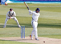 Jordan Thompson bats for Yorkshire during Kent CCC vs Yorkshire CCC, LV Insurance County Championship Group 3 Cricket at The Spitfire Ground on 15th April 2021