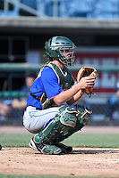 Jacob McPherson (4) of Mountain Brook High School in Birmingham, Alabama playing for the New York Mets scout team during the East Coast Pro Showcase on August 2, 2014 at NBT Bank Stadium in Syracuse, New York.  (Mike Janes/Four Seam Images)