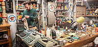 Pictured: Interior view of Retrosexual antique shop.<br /> Re: Street photography, Athens, Greece. Thursday 27 February 2020