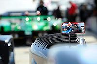 Ryan Hunter-Reay in his rear view mirror, #95 Level 5 Motorsports Oreca FLM09 (LMPC class)