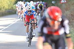 Polka Dot Jersey Guillaume Martin (FRA) Cofidis chases Tim Wellens (BEL) Lotto-Soudal during Stage 11 of the Vuelta Espana 2020 running 170km from Villaviciosa to Alto de la Farrapona, Spain. 31st October 2020.    <br /> Picture: Luis Angel Gomez/PhotoSportGomez | Cyclefile<br /> <br /> All photos usage must carry mandatory copyright credit (© Cyclefile | Luis Angel Gomez/PhotoSportGomez)