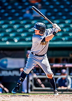 18 July 2018: Trenton Thunder outfielder Devyn Bolasky in action against the New Hampshire Fisher Cats at Northeast Delta Dental Stadium in Manchester, NH. The Thunder defeated the Fisher Cats 3-2 concluding a previous game started April 29. Mandatory Credit: Ed Wolfstein Photo *** RAW (NEF) Image File Available ***