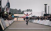 Mathieu van der Poel (NED/Beobank-Corendon) winning his 11th race of the season (out of 13 disputed)<br /> <br /> Super Prestige Ruddervoorde / Belgium 2017