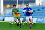 Paul Murphy, Kerry in action against Andrew McClean, Donegal during the Allianz Football League Division 1 Round 7 match between Kerry and Donegal at Austin Stack Park in Tralee on Saturday.