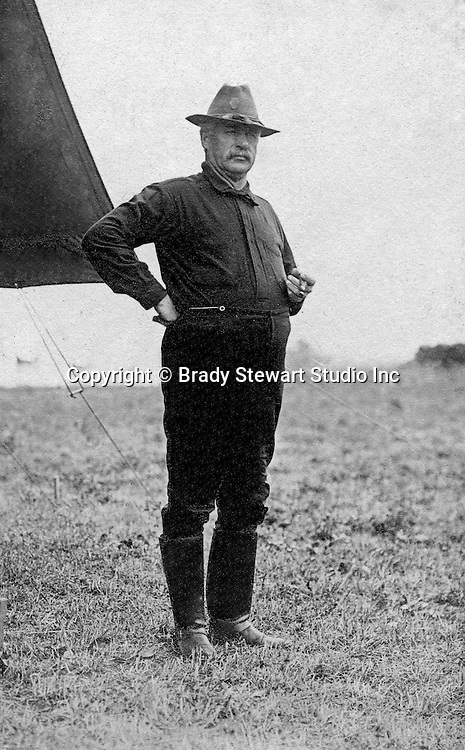 Gettysburg PA: Photograph of General Wiley, 2nd Brigade of the PA National Guard. Brady Stewart was in Gettysburg with the Pittsburgh-area Boy's Brigade. They were in Gettysburg for the 40th anniversary of the battle of Gettysburg.