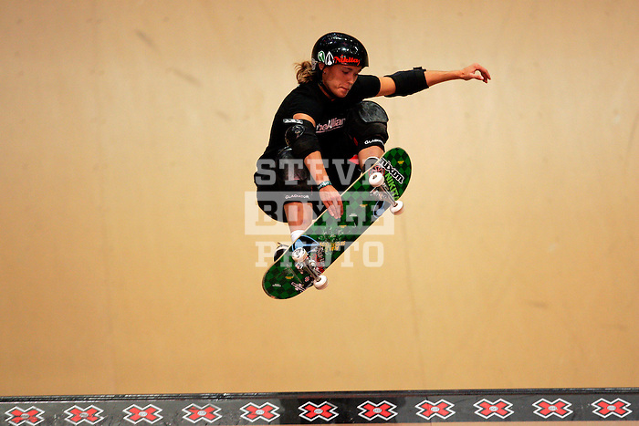 Mimi Koop competes in the women's vert competition at the Staples Center during X-Games 12 in Los Angeles, California on August 3, 2006.