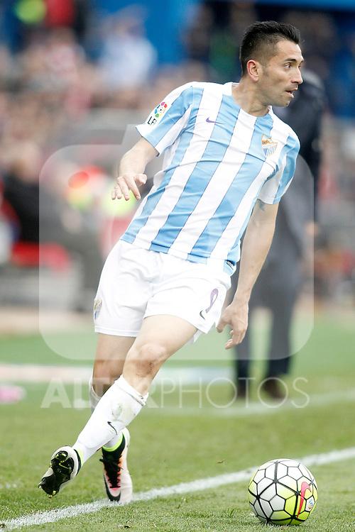 Malaga CF's Charles Dias during La Liga match. April 23,2016. (ALTERPHOTOS/Acero)