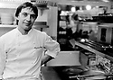 Raymond Blanc, French Chef and chief patron at Le Manoir aux Quai Saisons restaurant in Great Milton in Oxfordshire 1990 CREDIT Geraint Lewis