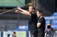 Simon Weaver, Manager, Harrogate Town,  provides instruction from the technical area during Southend United vs Harrogate Town, Sky Bet EFL League 2 Football at Roots Hall on 12th September 2020