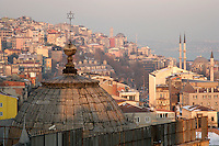 Synagogue rooftop in the Galata neighbourhood of Beyoglu, Istanbul, Turkey