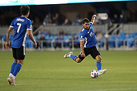 SAN JOSE, CA - MAY 12: Eric Remedi #5 of the San Jose Earthquakes during a game between Seattle Sounders FC and San Jose Earthquakes at PayPal Park on May 12, 2021 in San Jose, California.