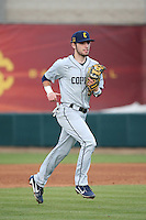 John Bonanca #23 of the Coppin State Eagles during a game against the Southern California Trojans at Dedeaux Field on February 18, 2017 in Los Angeles, California. Southern California defeated Coppin State, 22-2. (Larry Goren/Four Seam Images)
