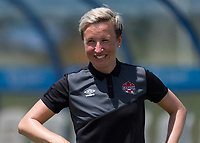 Bradenton, FL - Sunday, June 12, 2018: Bev Priestman prior to a U-17 Women's Championship 3rd place match between Canada and Haiti at IMG Academy. Canada defeated Haiti 2-1.