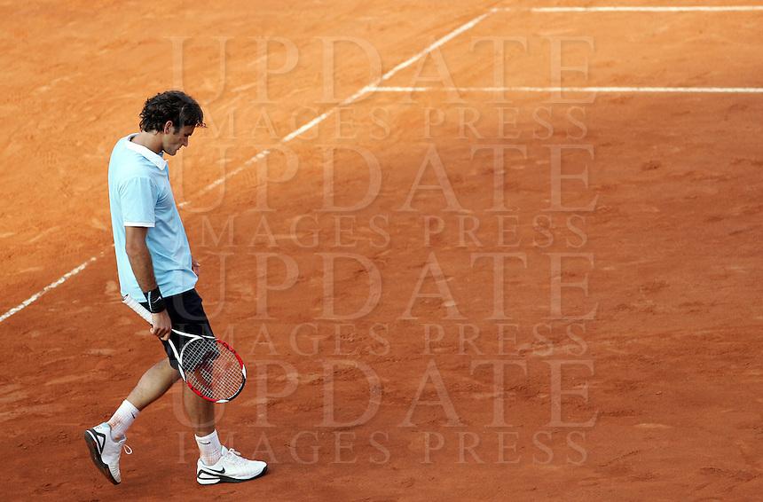 Internazionali d'Italia di tennis a Roma, 9 maggio 2008..Italy's Masters tennis tournament in Rome, 9 may 2008. Switzerland's Roger Federer..UPDATE IMAGES PRESS/Riccardo De Luca