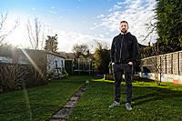 Scarlets rugby player John Barclay at his house in Swansea, Wales, UK. Thursday 18 January 2018