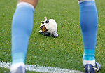 Kari Arnason boots a defenceless cuddly soft Motherwell plushie from the pitch