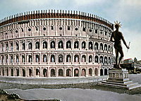 Artists color representation of the Colosseum, Rome Italy, 70 - 80 CE