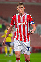 21st November 2020; Bet365 Stadium, Stoke, Staffordshire, England; English Football League Championship Football, Stoke City versus Huddersfield Town; Sam Clucas of Stoke City comes to take a throw in
