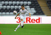 Pictured: Angel Rangel of Swansea. Tuesday 28 August 2012<br /> Re: Capital One Cup game, Swansea City FC v Barnsley at the Liberty Stadium, south Wales.