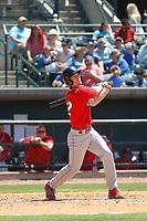 Lakewood BlueClaws infielder Luke Williams (12) at bat during a game against the Charleston RiverDogs on May 3, 2017 at Joseph P. Riley Ballpark in Charleston, South Carolina. Lakewood defeated Charleston 10-6. (Robert Gurganus/Four Seam Images)