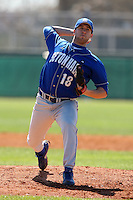 February 26, 2010:  Pitcher Joe DiRocco of the Seton Hall Pirates during the Big East/Big 10 Challenge at Raymond Naimoli Complex in St. Petersburg, FL.  Photo By Mike Janes/Four Seam Images