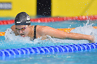 Aimee Willmott of GBR competes in 200 mter butterfly final during Commonwealth Games Swimming, Monday, July 28, 2014 in Glasgow, United Kingdom. (Mo Khursheed/TFV Media via AP Images)