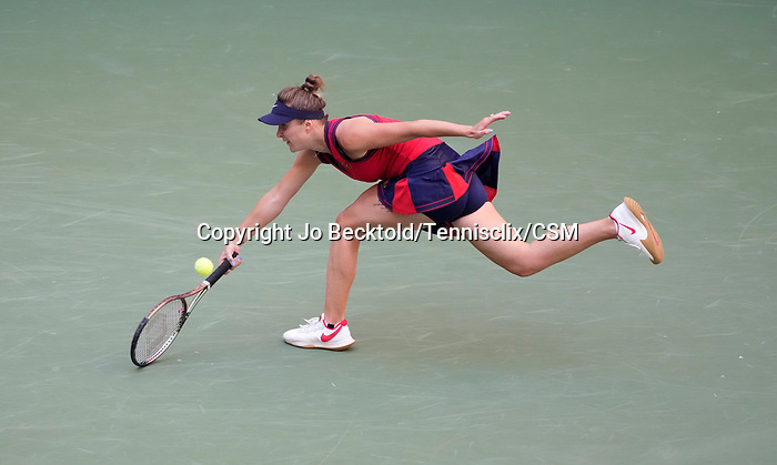 L - September  7, 2021:   Elina Svitolina (UKR) loses to Leylah Fernandez (CAN), 3-6, 6-3, 7-6 at the US Open being played at Billy Jean King Ntional Tennis Center in Flushing, Queens, New York, {USA} ©Jo Becktold/Tennisclix/CSM
