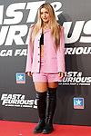 Spanish singer Lola Indigo during the photocall for the 'Fast & Furious 9' Madrid Premiere. June 17, 2021. (ALTERPHOTOS/Acero)